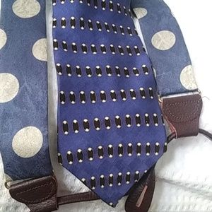 Bill Blass silk tie & suspenders$33  free $5 gift